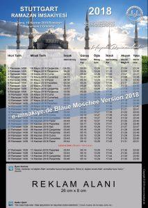 Imsakiye 2018 Blue Mosquee